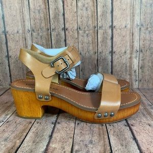 Lucky Brand Hannela Platform Leather Clog Sandals